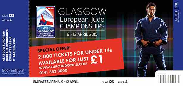 Tickets had already gone on sale for the European Judo Championships in Glasgow ©BJA