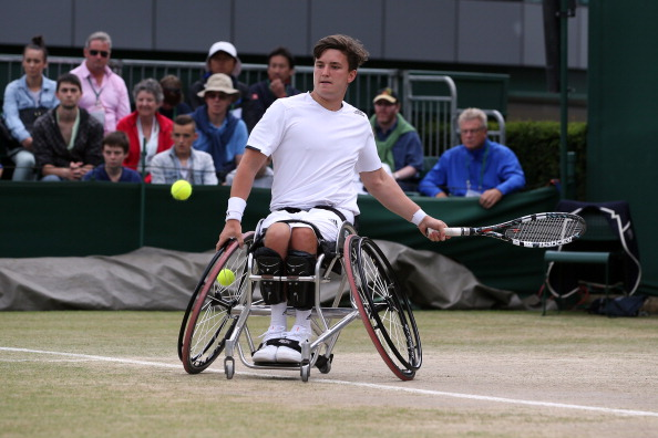 Great Britain's Gordon Reid also enjoyed success in Rotterdam as he claimed the doubles title alongside partner Stephane Houdet of France ©Getty Images