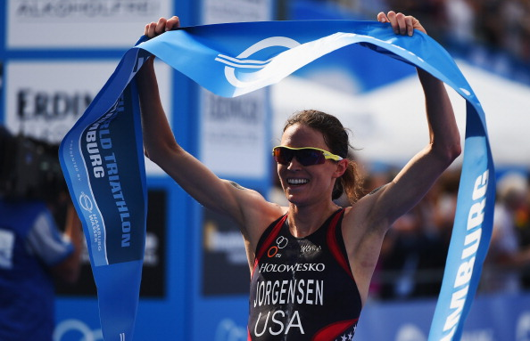 American Gwen Jorgensen claimed the women's World Triathlon Series title in 2014  ©Getty Images