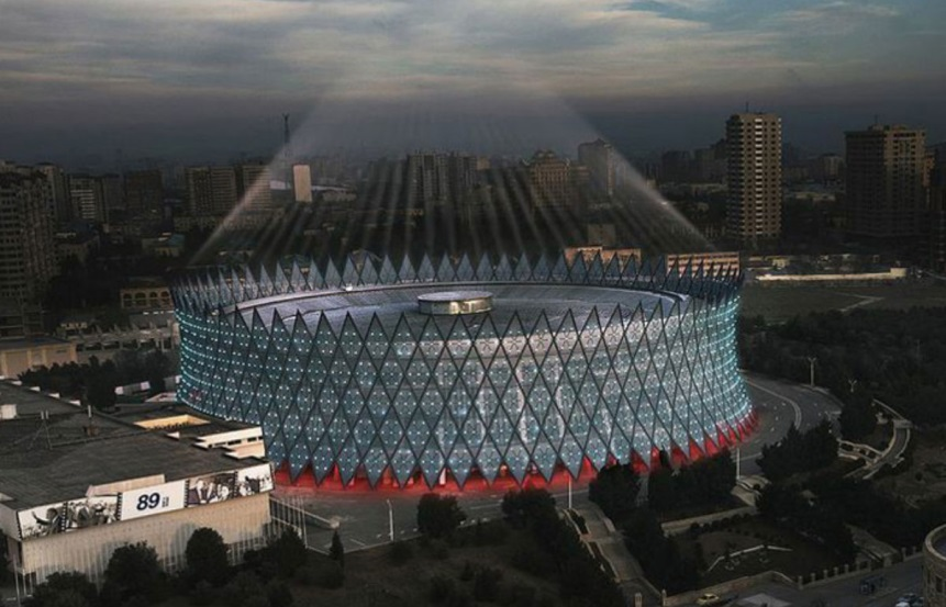 The reconstructed Heydar Aliyev Arena in Baku will host the 2015 European Judo Championships as part of the European Games ©Baku 2015