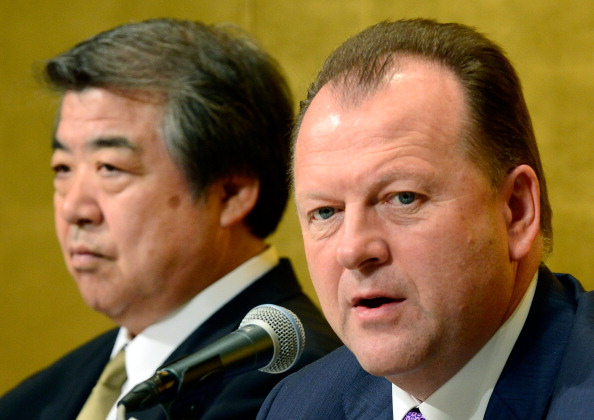 "IJF President Marius Vizer (right) had warned last year that judokas moving to other sports would represent a ""spiritual contamination"" of the sport"