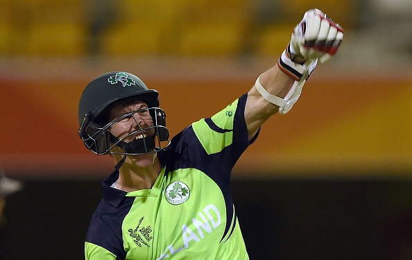 Ireland batsman George Dockrell held his nerve to help guide his side to a crucial win over the UAE in Brisbane ©Getty Images