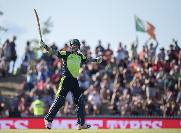 Ireland claimed the first shock win of this year's world cup as they beat West Indies by four wickets in Nelson ©Getty Images