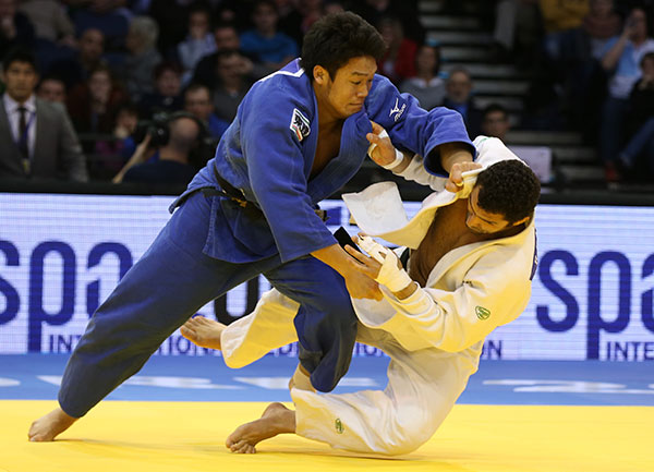 Japan's Ryunosuke Haga ended his long wait for Grand Prix gold as he won the men's under 100kg division ©IJF
