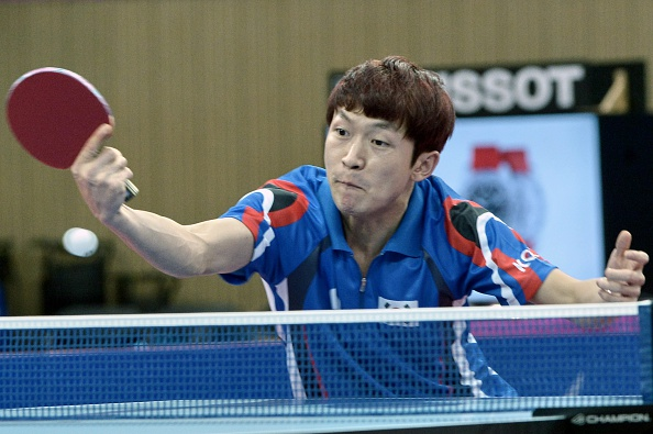 Jeong Sang-eun was competing in only his second ITTF World Tour final but he could not quite claim the title despite a dramatic comeback from 3-0 down ©Getty Images