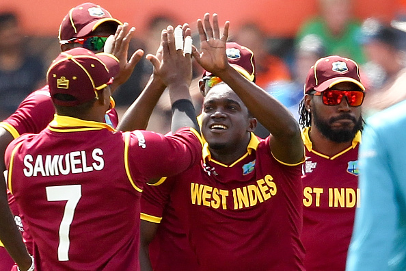 Jerome Taylor took three early wickets to reduce Pakistan to 1-4 as the West Indies earned their first win of the competition ©Getty Images