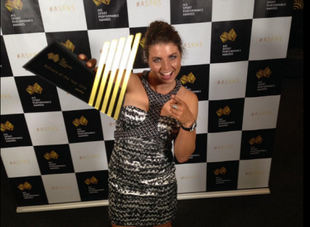 Jessica Fox was named Athlete of the Year after winning two world titles in 2014 ©Twitter