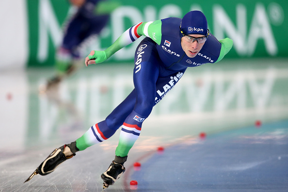 The Netherlands' Jorrit Bergsma powered to victory in the men's 5,000m race in Hamar to move into fourth on the overall World Cup leaderboard ©Getty Images