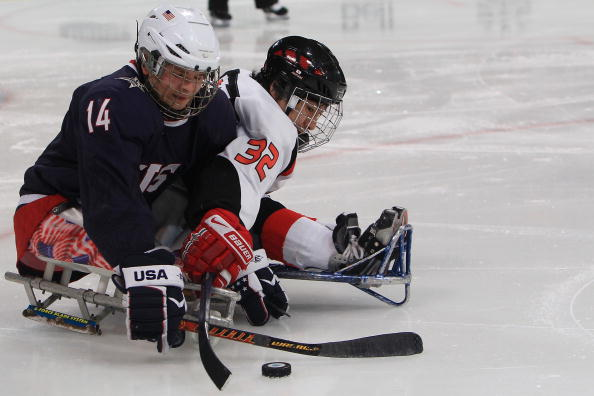 Josh Pauls bagged an overtime winner to give the USA their third World Sledge Hockey Challenge gold ©Getty Images