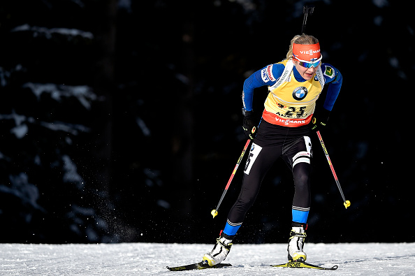 FInland's Kaisa Mäkäräinen shot clean to win the women's event ©Getty Images