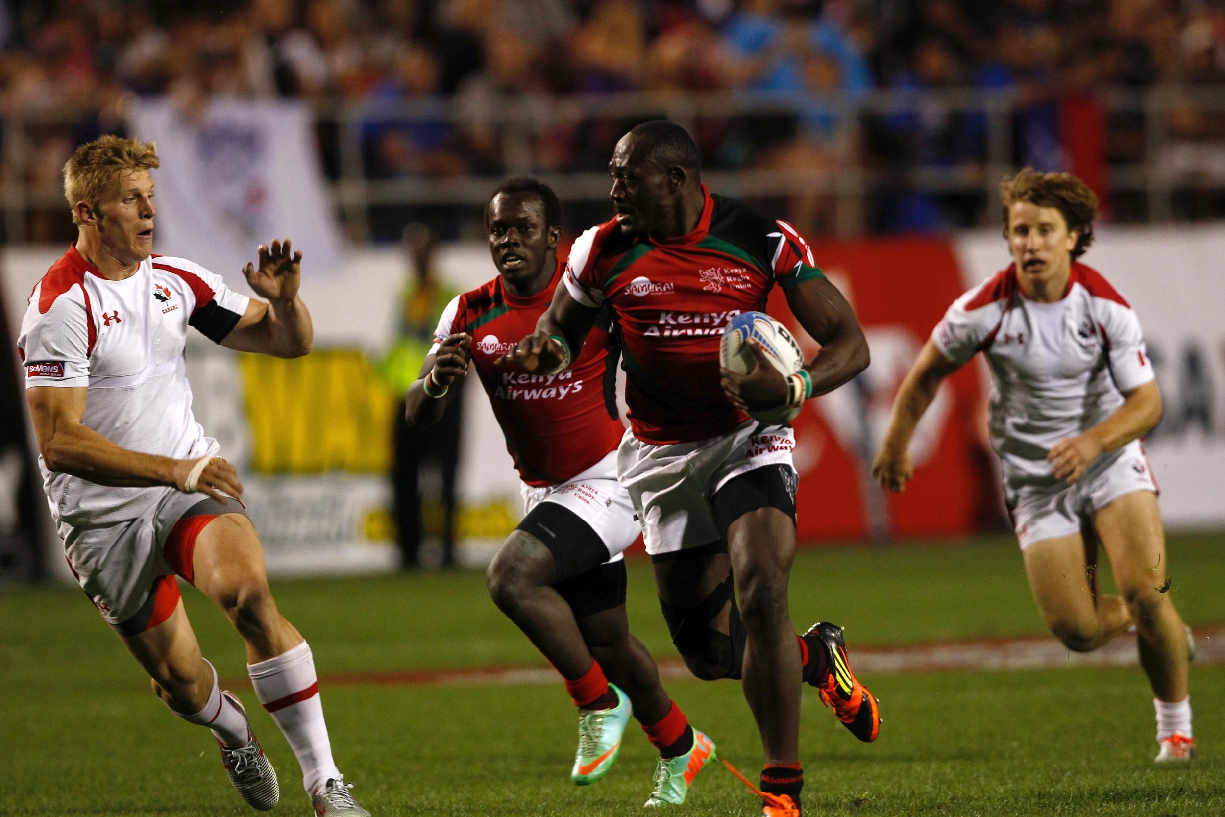 Kenya's narrow 22-21 victory over Canada could prove vital in a tight Pool C ©World Rugby