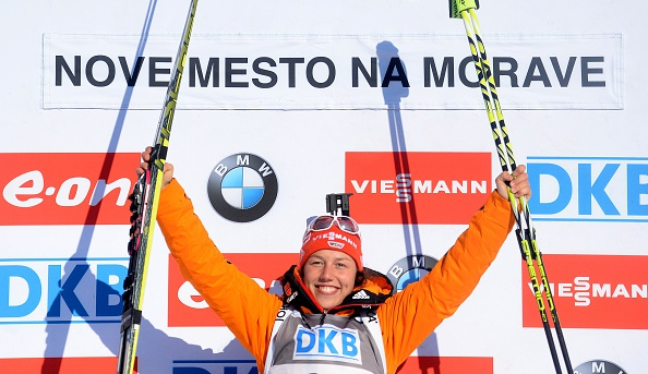 Laura Dahlmeier shrugged off her recent injury problems by winning the women's 7.5km sprint event at Nove Mesto ©Getty Images