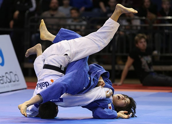 Ma Yingnan was too strong for Japan's Misato Nakamura in the women's under 52kg final ©IJF