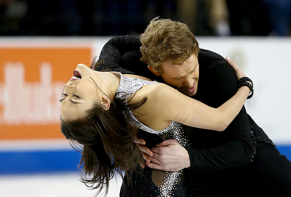 Madison Chock and Evan Bates set a new personal best score in the short dance competition ©Getty Images