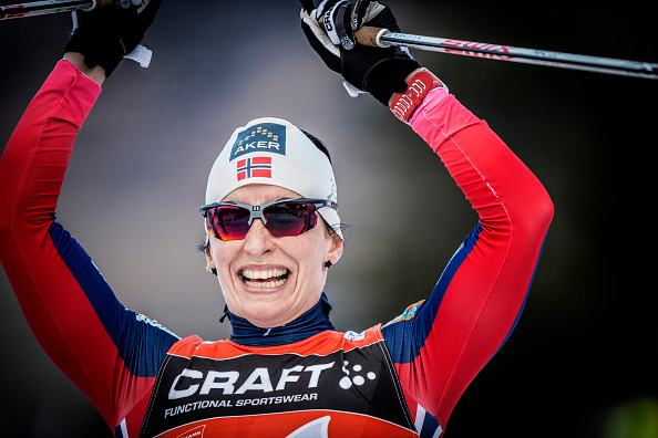 Marit Bjørgen claimed her 90th career World Cup win with victory in the 1.2km sprint in Östersund ©Getty Images