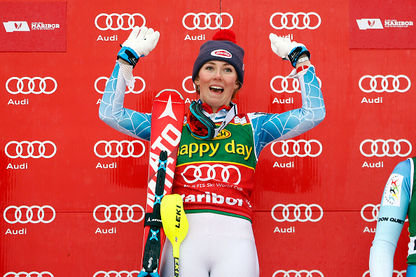 Mikaela Shiffrin of America earned a dominant win in Maribor to move to the top of the overall slalom standings