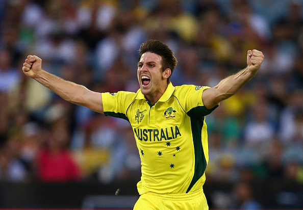 Mitchell Marsh contributed to England's downful as he took 5-53 in their dominant victory over their fierce rivals in their opening World Cup match in Melbourne ©Getty Images