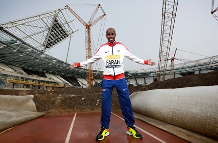 Mo Farah has launched the 2015 Sainsbury's Anniversary Games at the London 2012 Olympic Stadium ©Matt Alexander/PA Wire