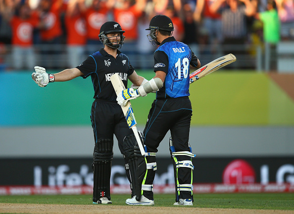 New Zealand booked their place in the World Cup quarter-finals as they scraped to a narrow victory over Australia ©Getty Images