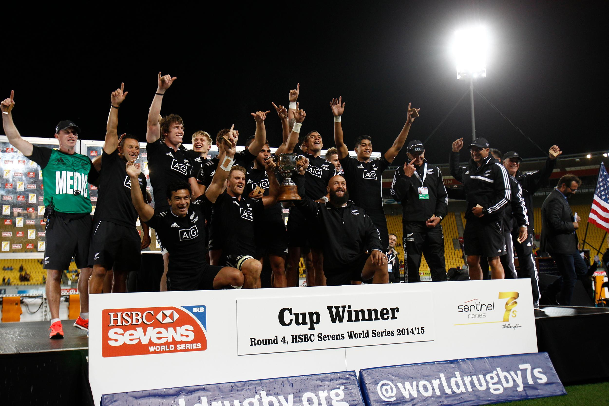New Zealand won the Sevens World Series at home in Wellington ©World Rugby/Martin Seras Lima