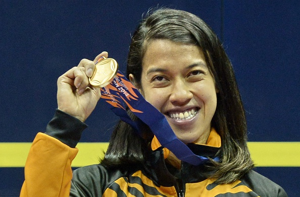 Nicol David has topped the Women's Squash Association world rankings for a record-breaking 106th month ©Getty Images