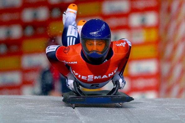 Olympic champion Lizzy Yarnold was on superb form on the German course ©Bongarts/Getty Images
