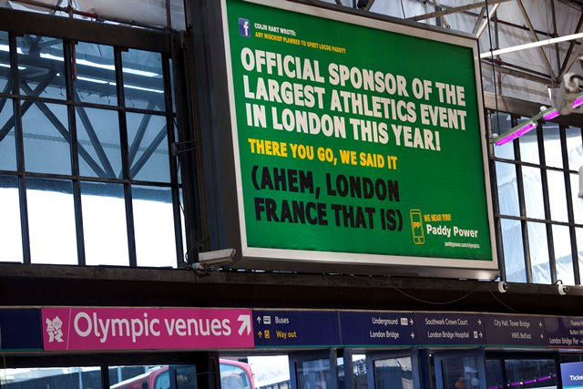 Specific legislation in the UK protected the official London 2012 sponsors from ambush marketing - however imaginative ©Getty Images
