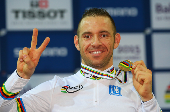 France's François Pervis secured his second gold of the UCI Track Cycling Championships in Paris after winning the 1km time trial ©Getty Images