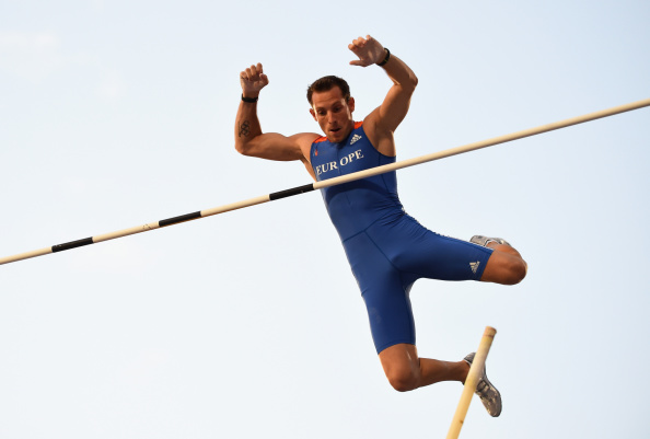 Pole vault world record holder Renaud Lavillenie could be the major athletics star in Baku ©Getty Images