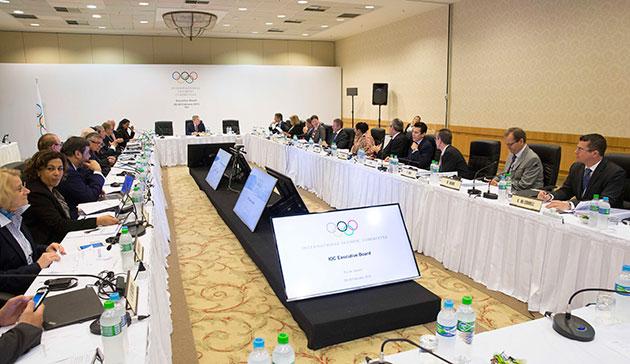 Pyeongchang 2018 made a presentation today to the IOC's Executive Board in Rio de Janeiro ©IOC