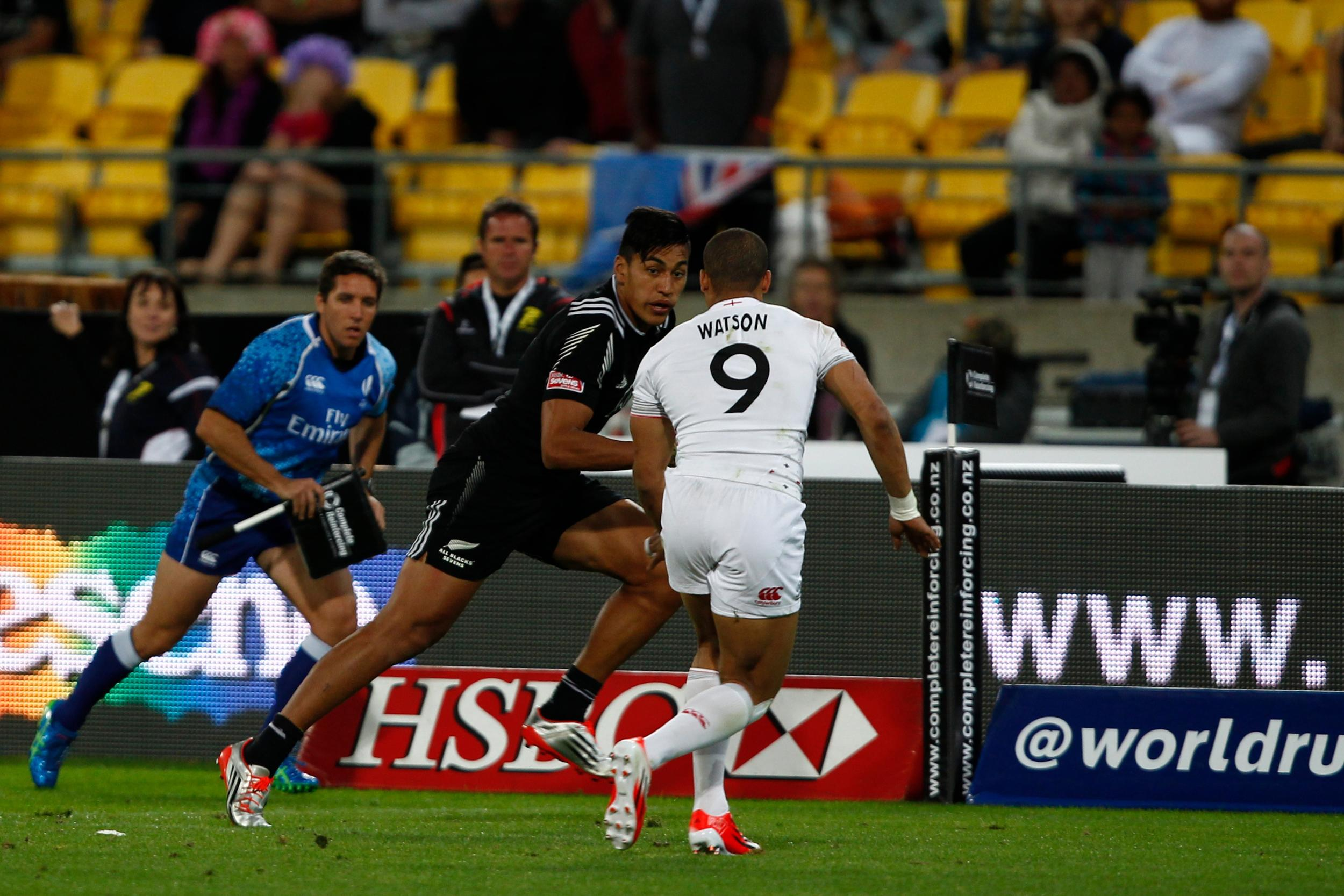 Rieko Ioane scored two tries in the win over England ©World Rugby/Martin Seras Lima