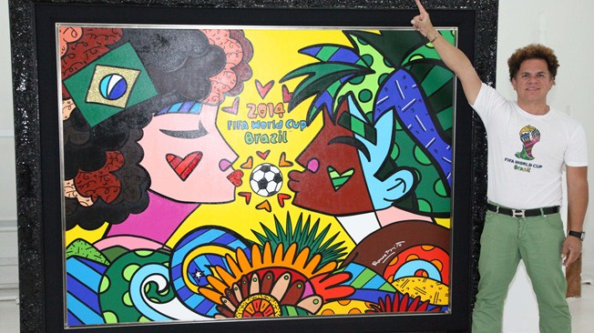 The work of pop artist Romero Britto was used during the 2014 FIFA World Cup in Brazil ©FIFA
