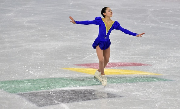 Satoko Miyahara of Japan leads the women's individual competition after the short programme
