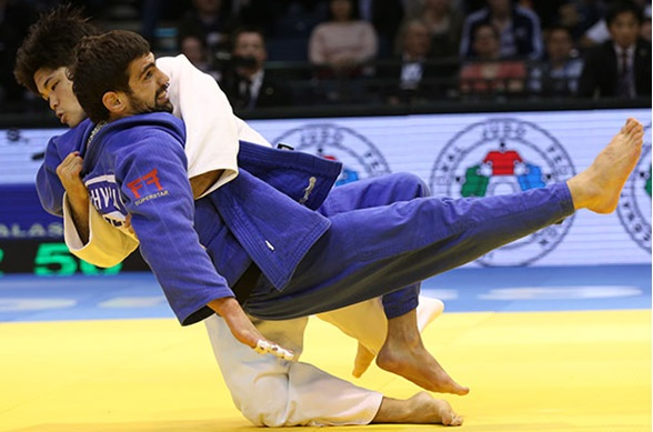 Shohei Ono won the men's under-73kg category on what was a superb day for the Japanese ©IJF