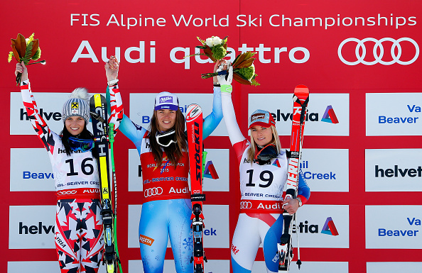Slovenia's Tina Maze earned victory in the women's downhill in Colorado ©Getty Images