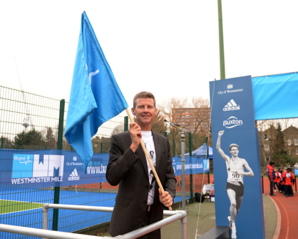The third edition of the Bupa Westminster Mile will mark Steve Cram's achievement of breaking the world mile record ©The London Marathon Ltd