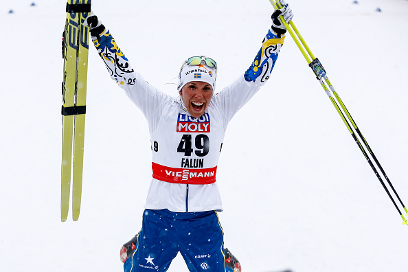 Sweden's Charlotte Kalla clinched her first-ever career individual gold with victory in the cross country race on home snow at Falun ©Getty Images