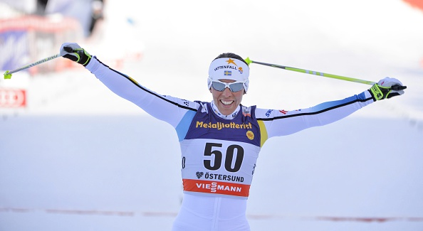 Sweden's Charlotte Kalla clinched her first World Cup victory for five years in front of her home crowd in Östersund ©Getty Images
