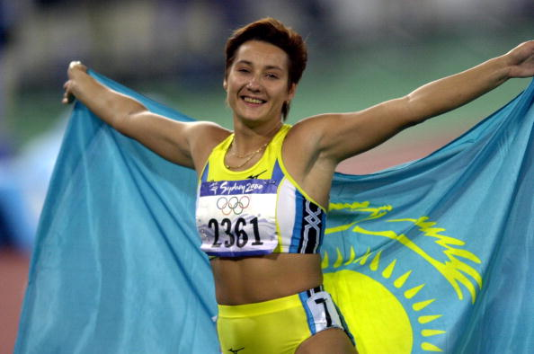Sydney 2000 champion Olga Shishigina, who, like Bid Ambassador Alexander Vinokourov, has a chequered doping past, spoke in support of Almaty 2022 today ©Getty Images