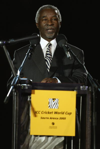 Thabo Mbeki opens the 2003 Cricket World Cup co-hosted by South Africa, Zimbabwe and Kenya ©Getty Images