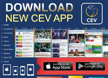 The European Volleyball Confederation has launched a new mobile app ©CEV