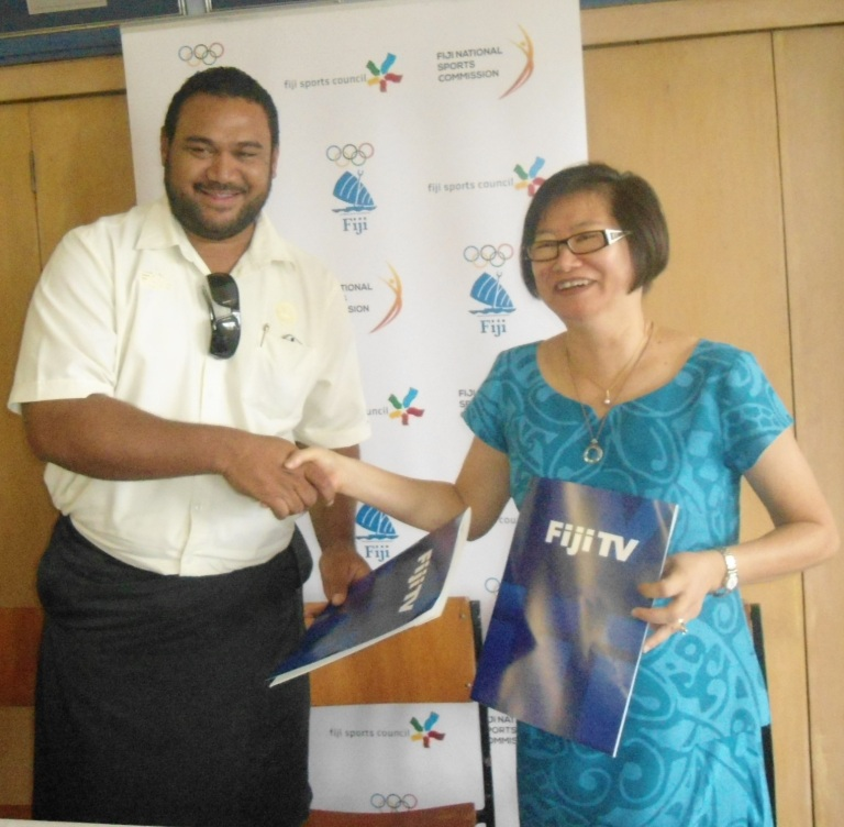 The Fiji Sports Awards Committee has signed a three-year deal with Fiji Television Limited ©Fiji Association of Sport and National Olympic Committee