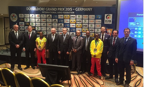 """The """"Judo for Ethiopians"""" project has been praised at a press conference at the IJF Grand Prix event in Dusseldorf ©Getty Images"""