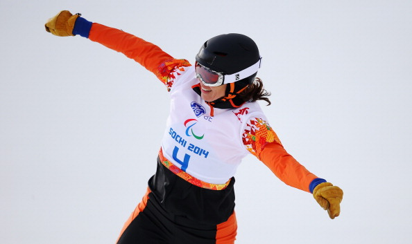The Netherlands' Bibian Mentel-Spee continued her dominance of the SB-LL2 classification by taking gold in the snowboard-cross in La Molina ©Getty Images