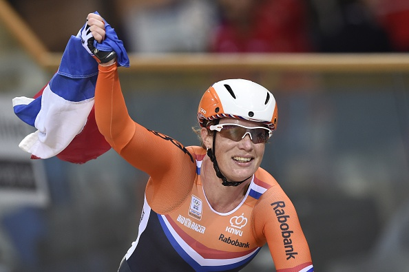 The Netherlands' Kirsten Wild won the women's scratch race and leads the omnium ©AFP/Getty Images