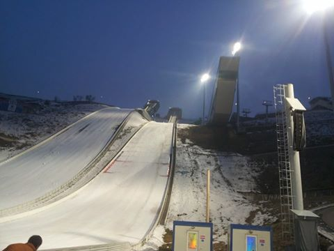 The Sunkar Jumping Hills is one of the most attractive features of the Almaty 2022 bid ©ITG