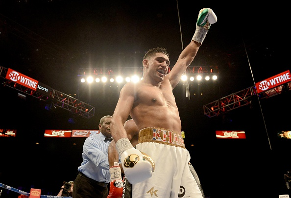 The news that Mayweather and Pacquiao will fight each other put paid to Amir Khan's hopes of fighting one of the pair this year ©Getty Images