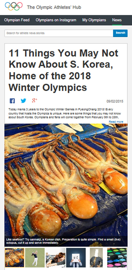 The post appeared on the Olympic Athletes' Hub section of the IOC website and had to be deleted after it made derogatory claims about South Korea ©IOC