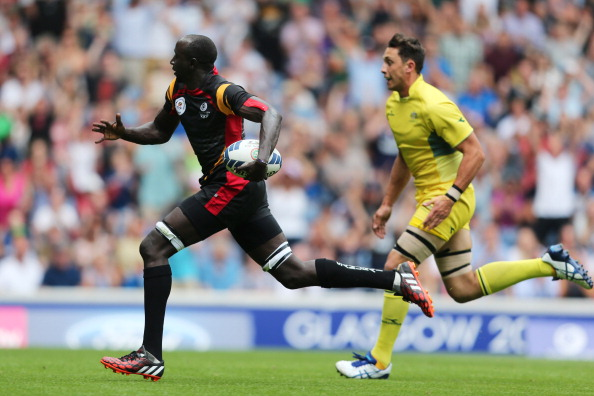 Uganda finished in 11th place in the rugby sevens at the Commonwealth Games in Glasgow last year but were two players short when they returned home ©Getty Images