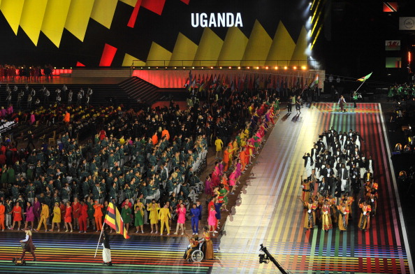 The nationwide fitness programme should enable more Ugandans to follow in the footsteps of the nation's stars at last summer's Commonwealth Games in Glasgow ©AFP/Getty Images